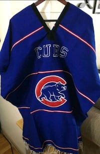 blue and black Chicago Cubs jersey