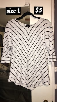 White and black striped sweater  Lubbock, 79410