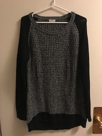 Black and Grey Knit Sweater