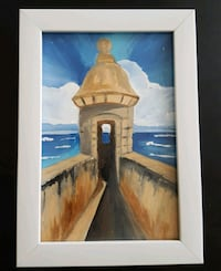 Puerto Rican painting with frame included