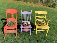 Colorful Chair Planters