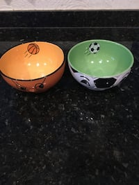 Soccer and Basketball Cereal Bowls  Modesto, 95350