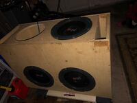 3 out of 4 12in powerbass subwoofers  Biloxi, 39532