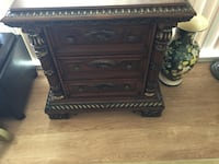 Brown wooden 3-drawer end table/hallway table  Burnaby, V5B 4S5