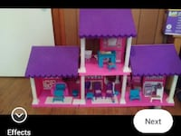 Pink and purple doll house White House, 37188