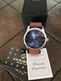 Akribos XXIV Men's AK916 Sub Dial Watch Toronto
