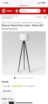 Delavan Tripod Floor Lamp - Project 62 Arlington, 22201