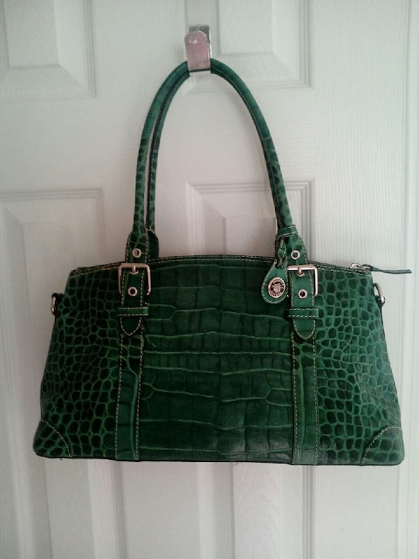 Used green alligator skin leather tote bag for sale in Covington - letgo 0a2651be1f