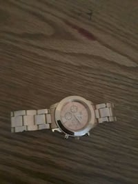 round silver-colored chronograph watch with link bracelet Atlanta, 30318