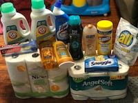 $40 Bundle toilet paper, paper towel, laundry detergent, shampoo, conditioner, toothpate, bathroom cleaner, body wash, wipes, downy unstopables in wash scent booster & dryer sheets Eugene, 97404
