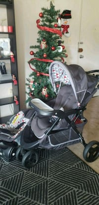 baby's black and gray stroller 37 km