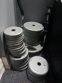 assortedgray weight plates lot Mississauga, L5A 3A7