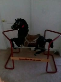 Vintage Black Beauty Rocking Play Horse Henderson, 89052