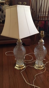 2 glass Lamps Montgomery Village, 20886