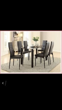 7PC GLASS DINING TABLE SALE!!