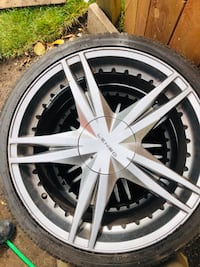 "19"" inch rims with tires  Kitchener, N2C 2L4"