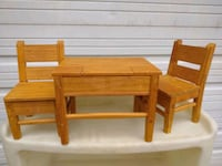 """Wood 18"""" Doll Table and Chairs Concord"""