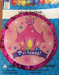 GIANT PRINCESS BUTTON