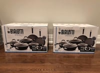 Bialetti 10 pc nonstick cookware set. Brand new never opened. 2 sets Vaughan, L4H 0S5