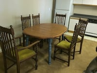 Solid kitchen table with an extra leaf to make the table longer!  (no chairs) Langley, V3A 9A8