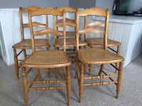 Cane seating wood chairs Scugog