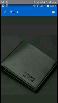 black leather Boss Hugoboss bifold wallet Upminster, RM14 2QT