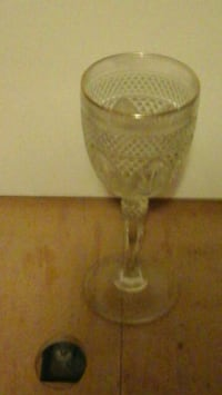 Goblet with gold trim