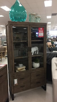 Sundried wooden framed glass display cabinet Calgary, T2A 5Z6