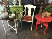 Chair, table, magazine holder - Booth 555 at You Never Know Clarksville, 37040