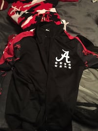 Alabama black and red zip-up Jacket Birmingham, 35218