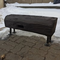 Barn beam bench