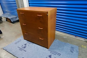 3-drawer Teak Lateral File