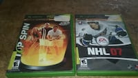Vintage xbox video games,  Top Spin,  Nhl 07
