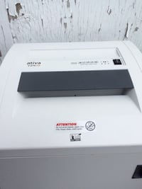 Ativa. High security( level 6,) document shredder.Micro-cut, the best!