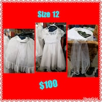 For girl white and pink dress
