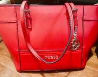 Red guess leather tote bag 540 km