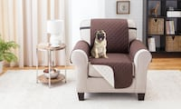 Water-resistant Quilted Reversible Chair Cover (Brown/Beige)  Toronto