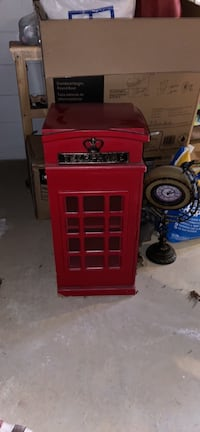 Mini london phone booth cabinet