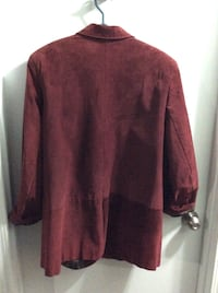 Beautiful aubergine suede 3/4 length coat. Again would look amazing with jeans or dress pants. Calgary, T3B 1K5