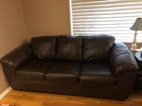 Sofa & Recliner Brown Leather Set Englewood, 80110