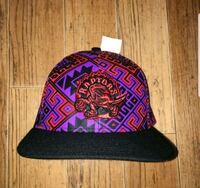 Rare Toronto Raptors Purple and Red Pattern Hat Pickering, L1X 2T9