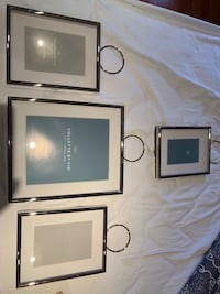Picture Frames - all matching ....shiny silver