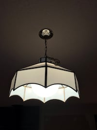 White and black pendant lamp