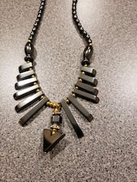 Hematite Stone Necklace From Cameroon. Kingsville, 21087