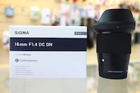 Like new Sigma 1.4 16mm e mount lens for Sony  Washington, 20011
