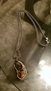 Silver necklace n charm  Taylor, 48180