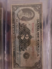 1935 first release of the bank of Canada 2 dollar bill rare Edmonton