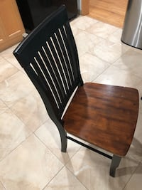 4 Wooden/ Black Chairs Concord, 94519