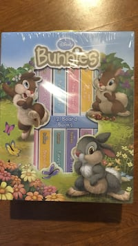 Disney bunnies 12 board books brand new. Great Xmas gift!!!