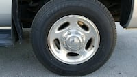 Dodge ram 2500 wheels with brand new tires.